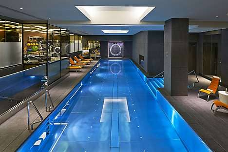 The 17-metre pool at The Spa at Mandarin Oriental Hyde Park, London