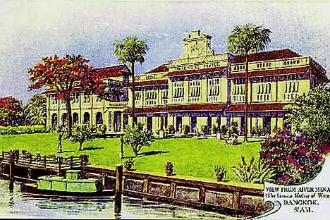 The hotel in its early incarnation as The Oriental in 1880