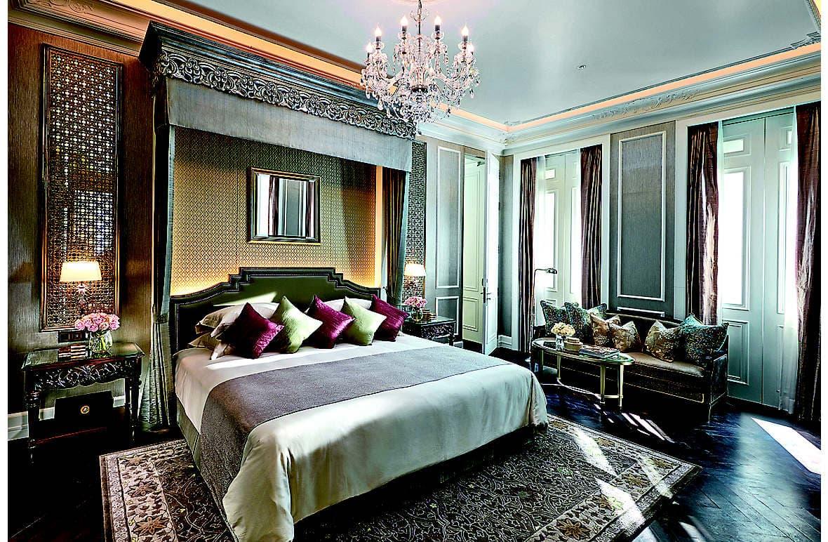 A bedroom in the new Ambassador Suite