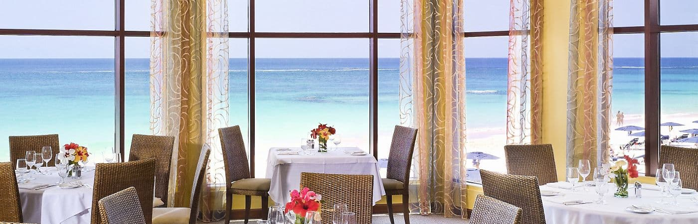 Elbow Beach's Lido offers beautiful views and mouth-watering cuisine perfect for any fine dining experience.