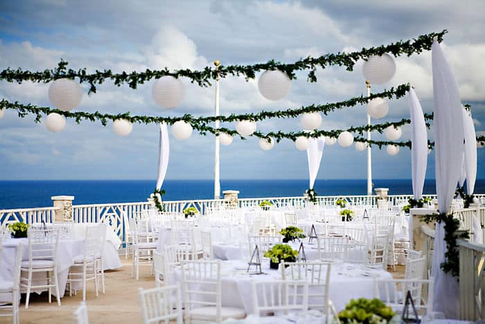Reception on the Ocean Terrace