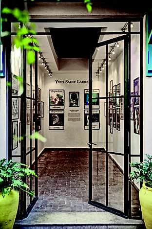 A gallery at Jardin Majorelle