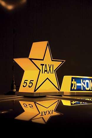 A Tokyo taxi at night