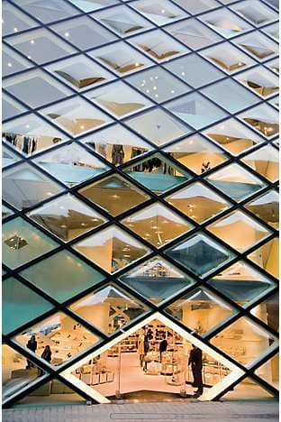 The iconic Prada building designed by Herzog & de Meuron