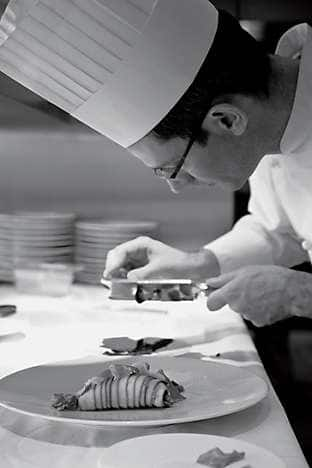 Chef de Cuisine Olivier Rodriguez at work
