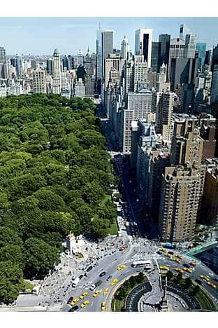 Great views of Columbus Circle and Central Park South from Mandarin Oriental, New York
