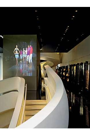 Inside the Armani store