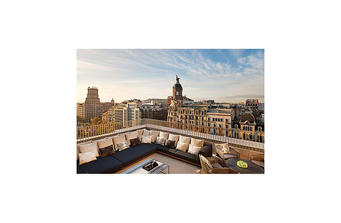 The hotel's guest-only panoramic roof terrace