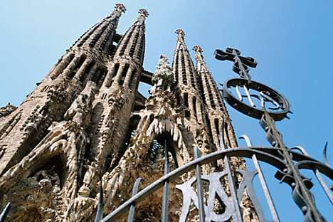 The Sagrada's 100-metre-high spires