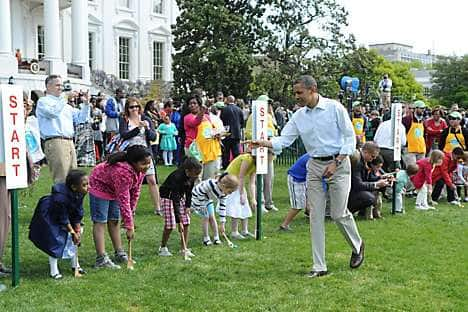 The White House Easter Egg Roll, hosted by US President Barak Obama