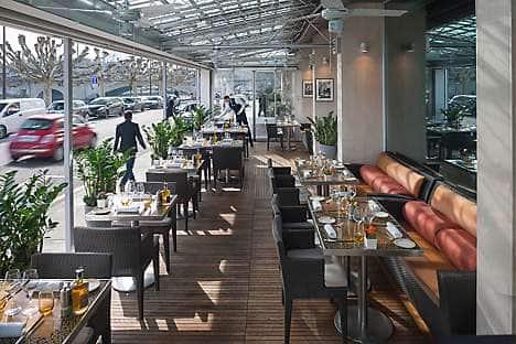 The terrace of Café Calla, Mandarin Oriental, Geneva