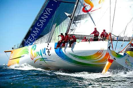 Team Sanya's boat at the Volvo Ocean Race