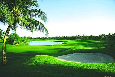 The island is an ideal venue for golf