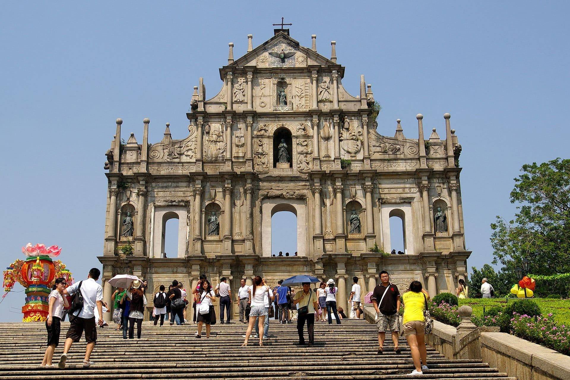 The Ruins of St Paul's, one of Macau's UNESCO World Heritage sites