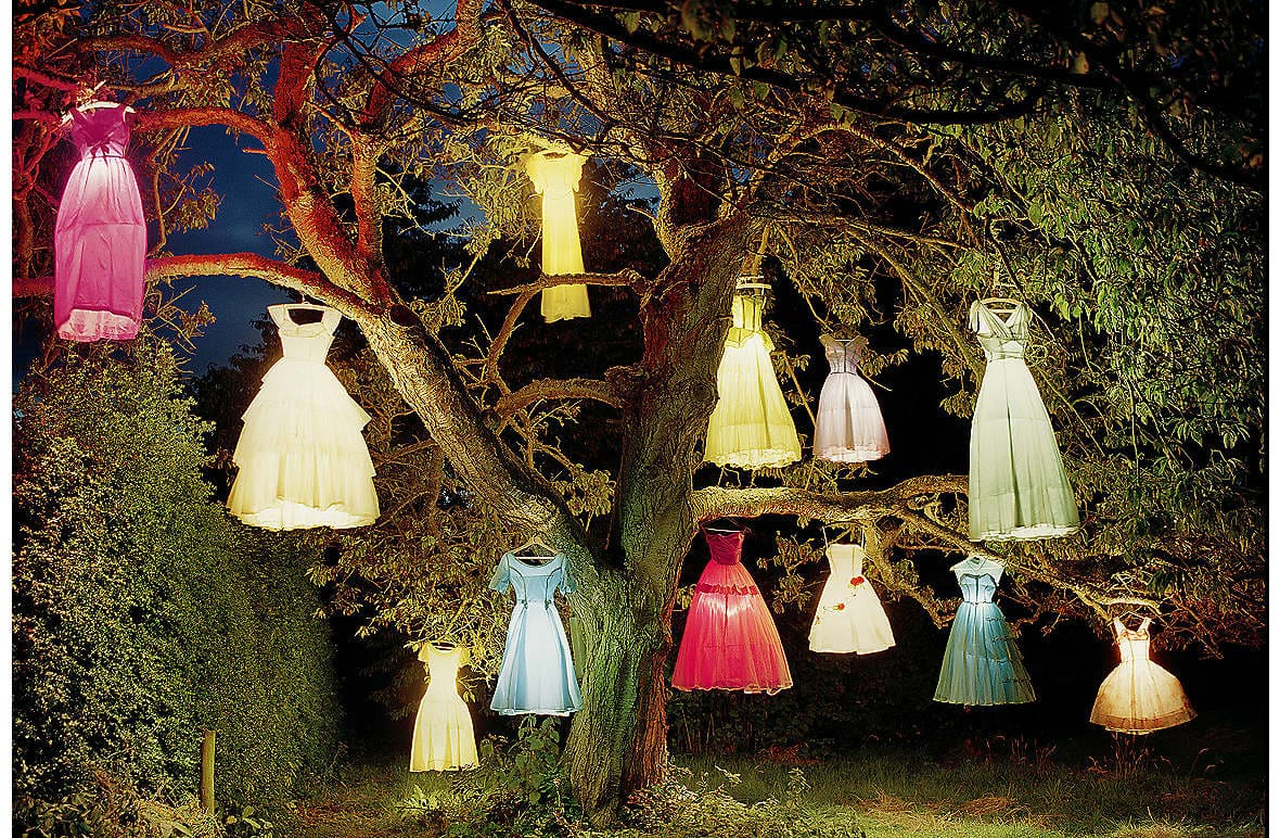 Tim Walker's Dress Lamp Tree at 'Vogue Like a Painting'