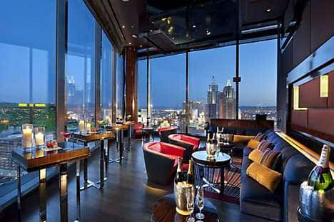 Mandarin Bar at Mandarin Oriental, Las Vegas, with its 23rd floor views