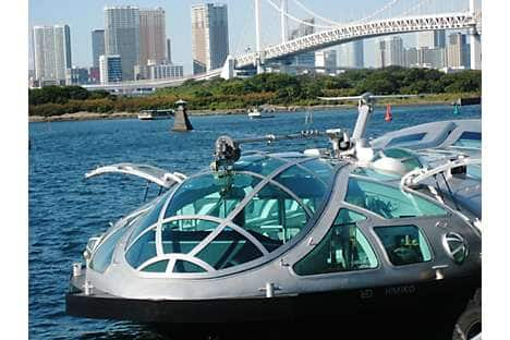 The futuristic Himiko river boat