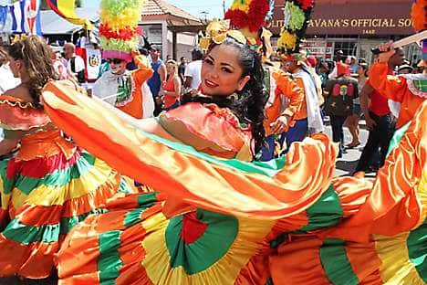 Dancers in Calle Ocho, Little Havana