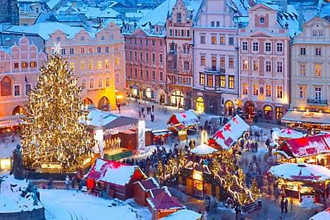 The Christmas Market in the Old Town Square