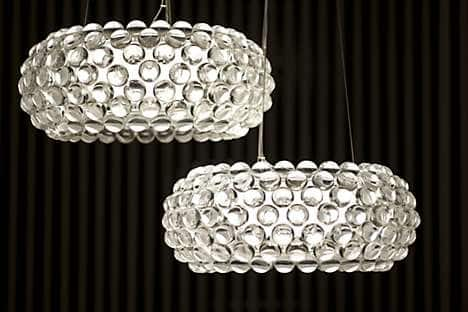 Patricia Urquiola's Foscarini 'Caboche' pendant lights, which hang in the hotel