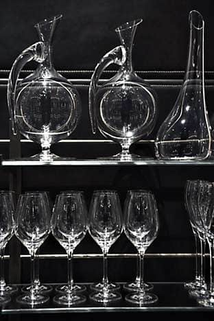 Reidel decanters and glasswear
