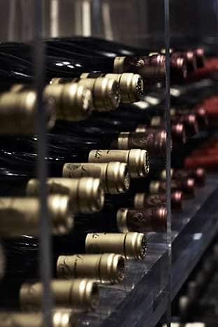 Choose from a selection of wines at Dinner