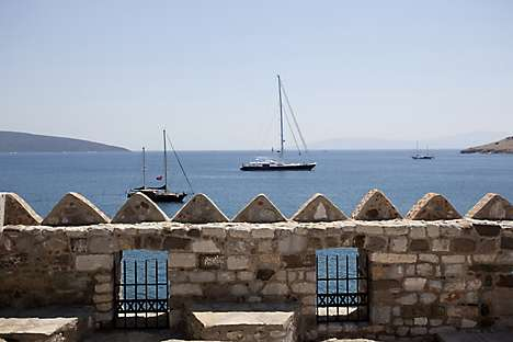 The Aegean Sea from Bodrum Castle