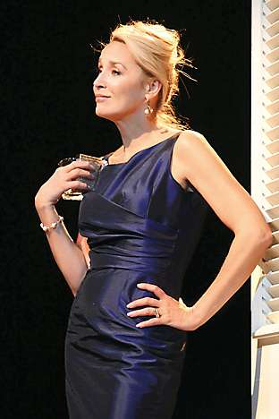 Jerry Hall playing Mrs Robinson in the 2010 stage production of The Graduate