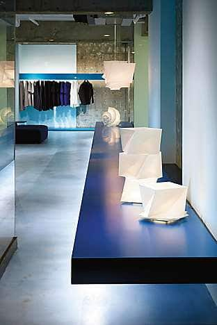 The futuristic Issey Miyake store in Omotesando