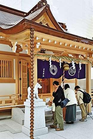 Shinto shrine Fukutoku Jinja in Nihonbashi