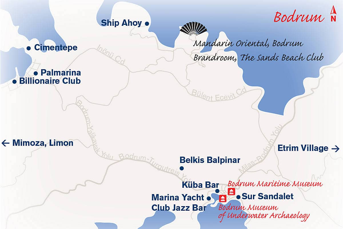 Map of Bodrum