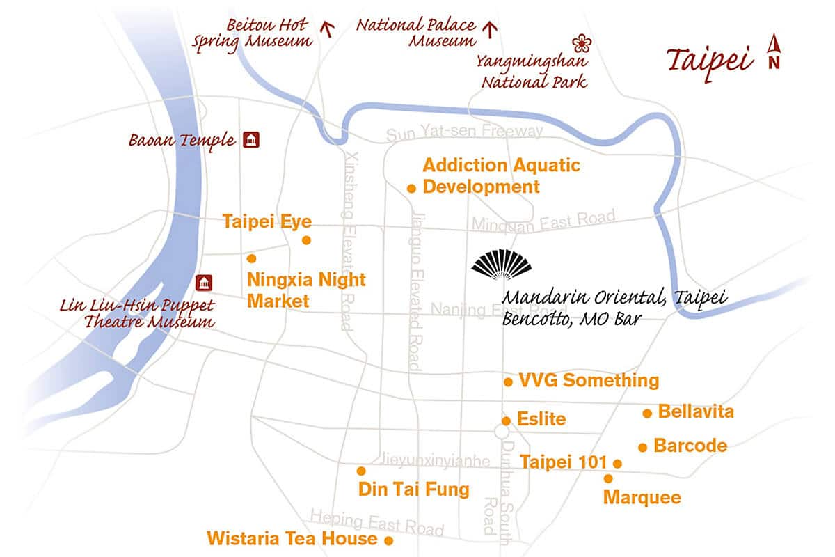Map of Taipei