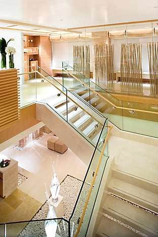 The entrance of the two-floor spa