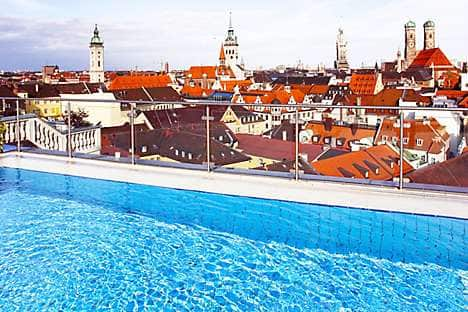 Rooftop views from Mandarin Oriental, Munich