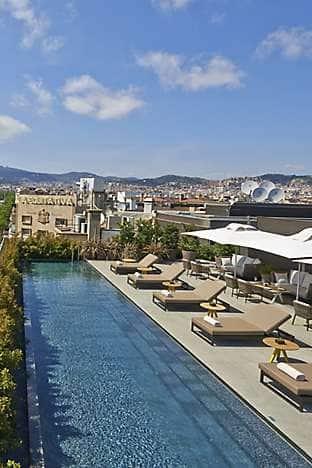 Terrat overlooking Passeig de Gràcia at Mandarin Oriental, Barcelona