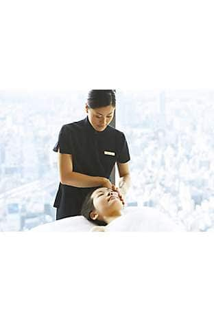 A facial at The Spa at Mandarin Oriental, Tokyo