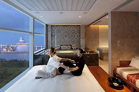 A spa treatment with views