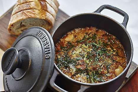Cassoulet, a dish at Café Causette's pop-up bistro