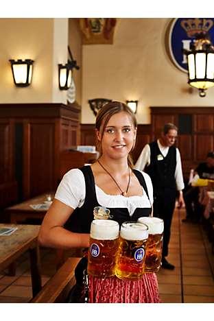 The Hofbräuhaus beer hall
