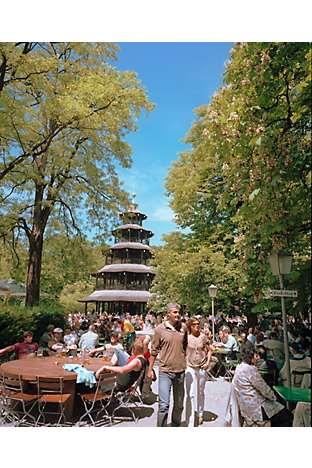 A Chinese pagoda in the Englischer Garten