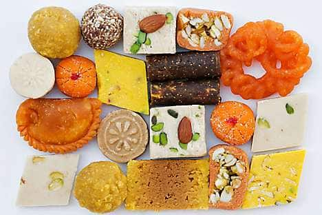 'Barfi' sweets, eaten during Deepavali