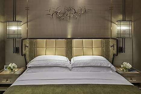 The headboard design for the new suites