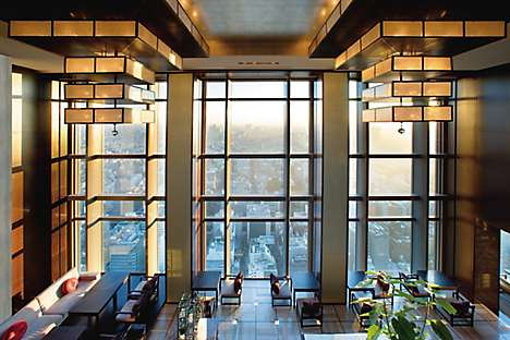 Mandarin Oriental, Tokyo's east lobby, with views of Nihonbashi
