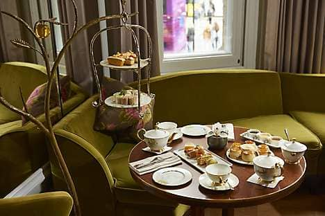 A table spread for tea at the Rosebery Lounge
