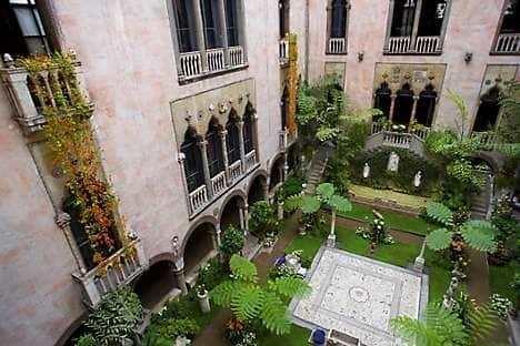 The courtyard of the Isabella Stewart Gardner Museum