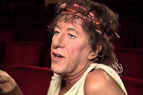 Geoffrey Rush as Pseudolus in the musical A Funny Thing Happened on the Way to the Forum (2012)