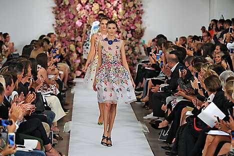 Oscar de la Renta showing at New York Fashion Week, SS15