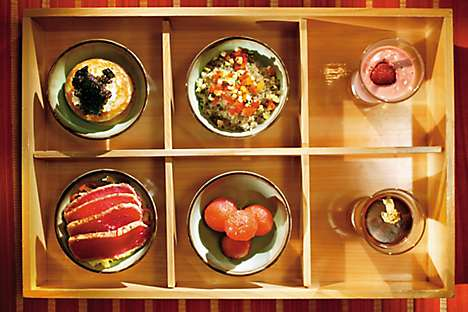 A bento box from Mandarin Oriental's restaurant, Asiate