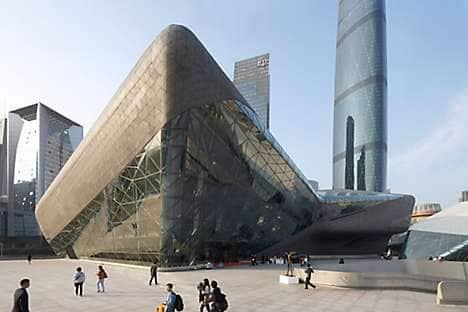Guangzhou Opera House, designed by Zaha Hadid