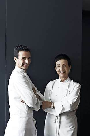 Moments chefs Raül Balam and Carme Ruscalleda